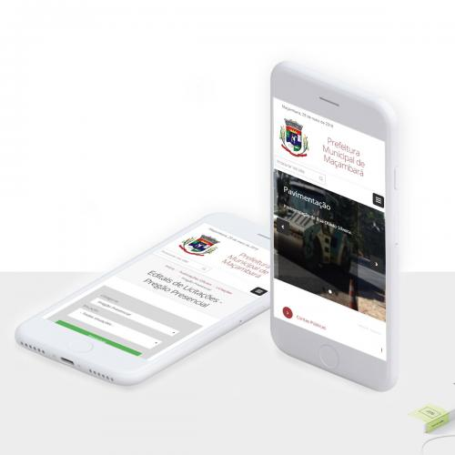 Site da Prefeitura de Maçambará - RS