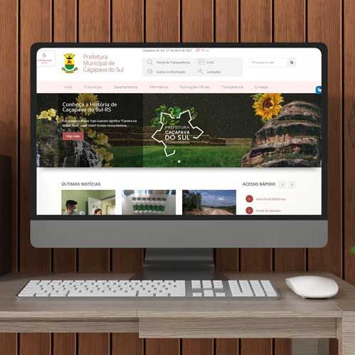 Site da Prefeitura de Caçapava do Sul - RS